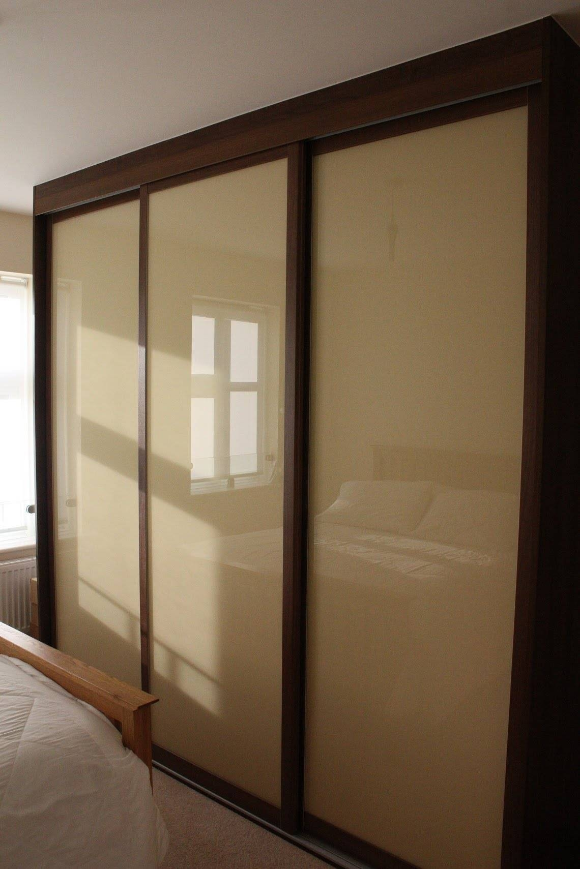 Featured Photo of Dark Wood Wardrobe Sliding Doors