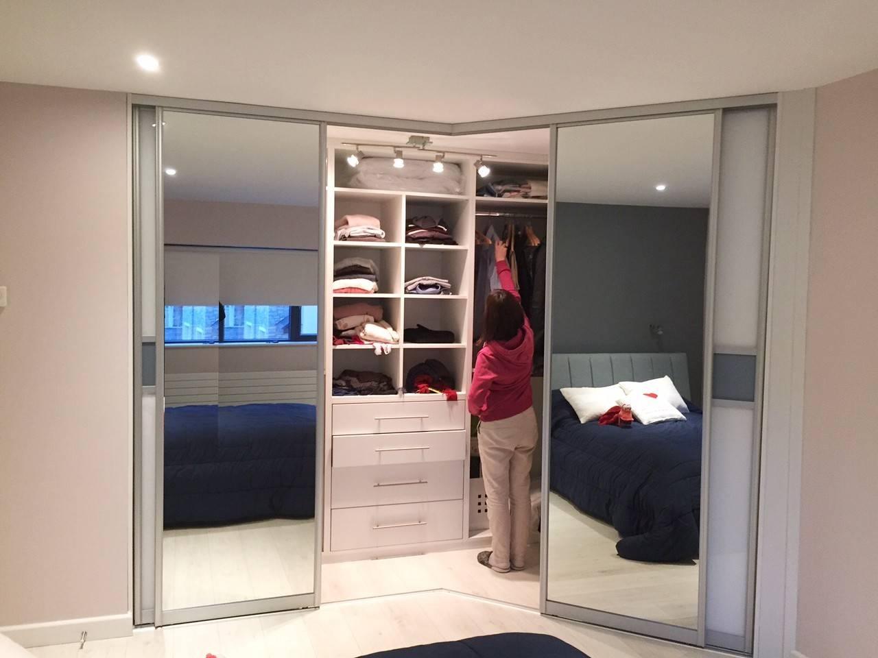 Irregular Corner Wardrobe | Slideglide - Sliding Wardrobes And pertaining to Corner Wardrobes (Image 10 of 15)