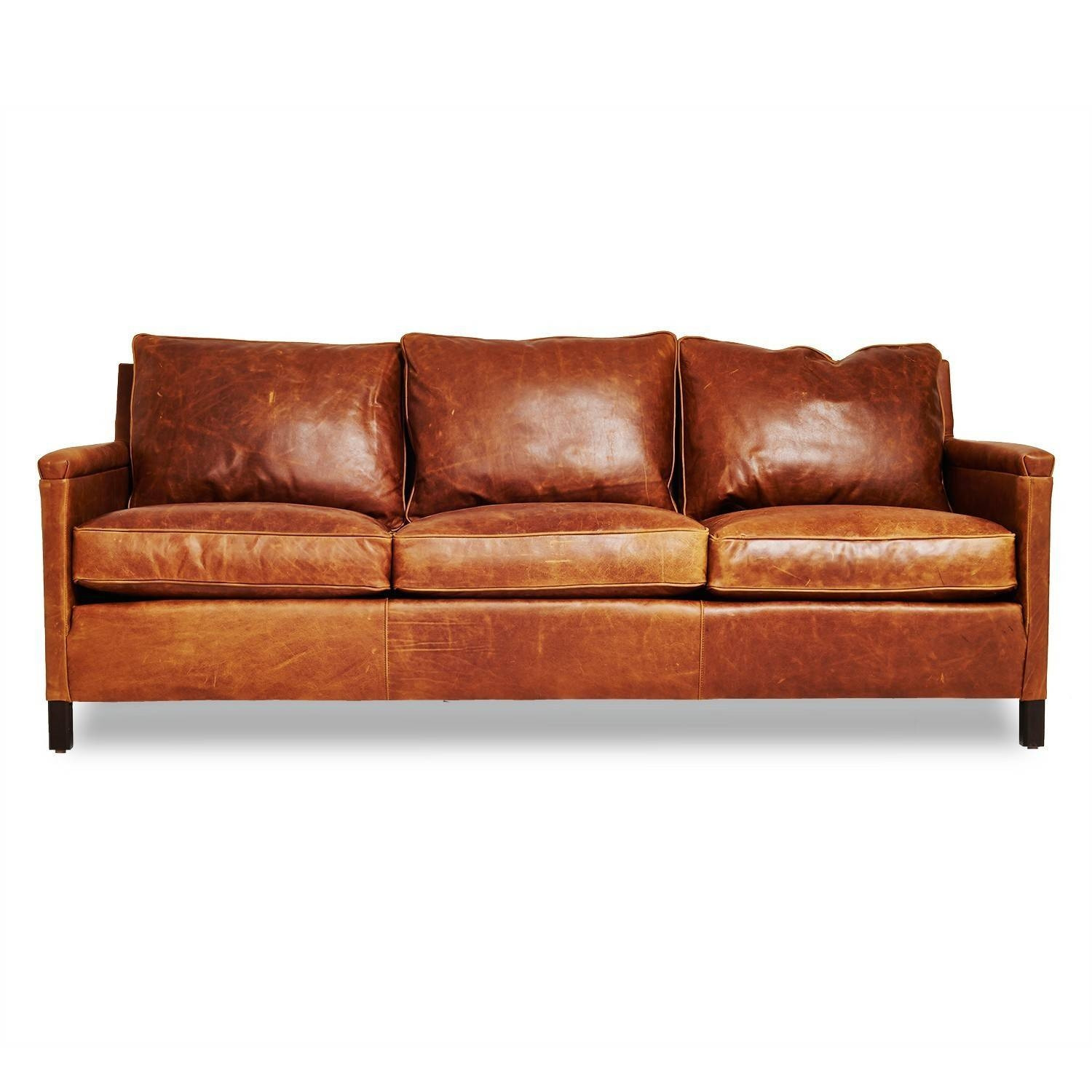 Irving Place Heston Leather Sofa – Abc Carpet & Home inside Light Tan Leather Sofas (Image 12 of 30)