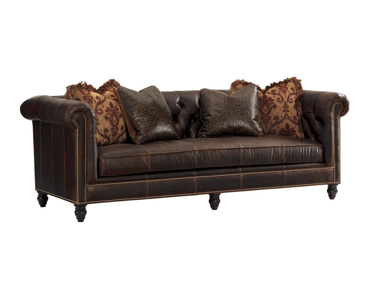 Island Traditions Manchester Leather Sofa | Lexington Home Brands in Manchester Sofas (Image 10 of 30)