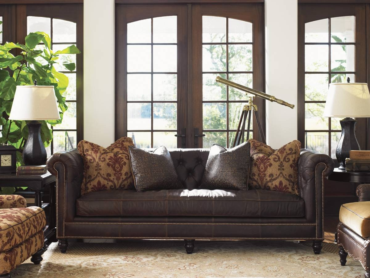 Island Traditions Manchester Leather Sofa | Lexington Home Brands within Manchester Sofas (Image 11 of 30)
