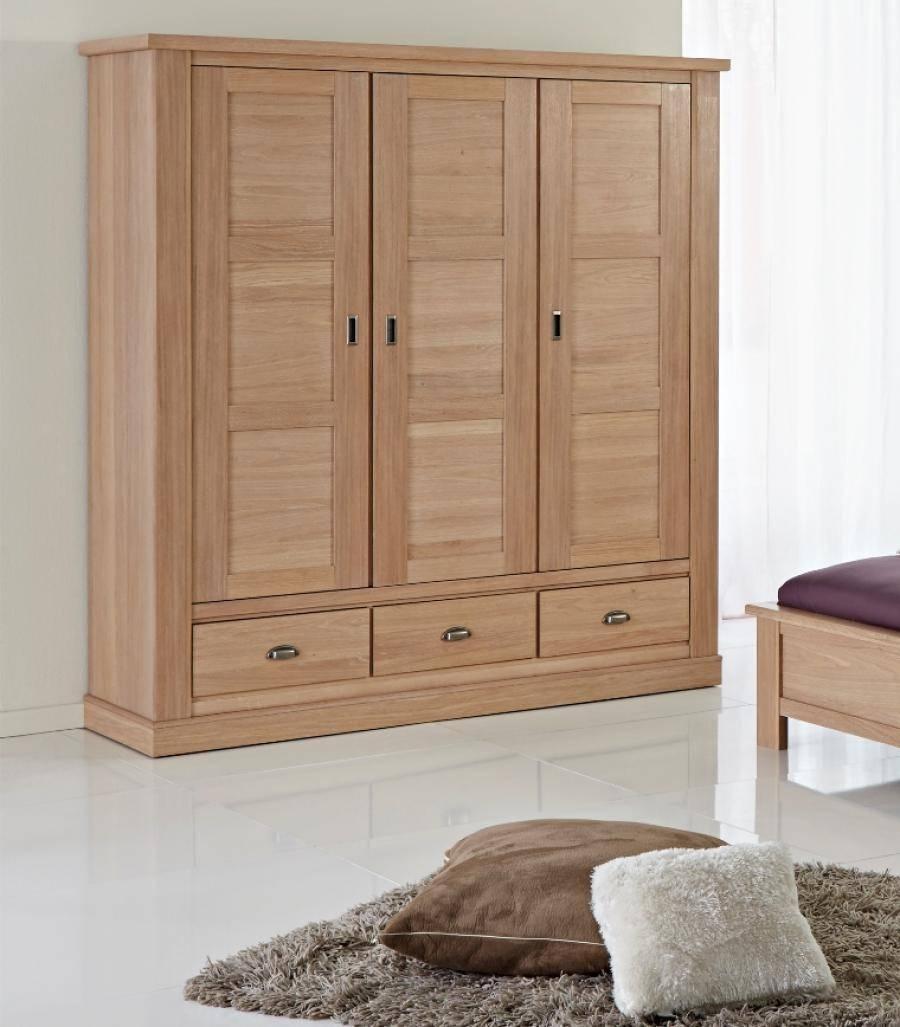 Isola, Contemporary 2 Or 3 Door Wardrobes In White Oak Finish Regarding Oak 3 Door Wardrobes (View 5 of 15)