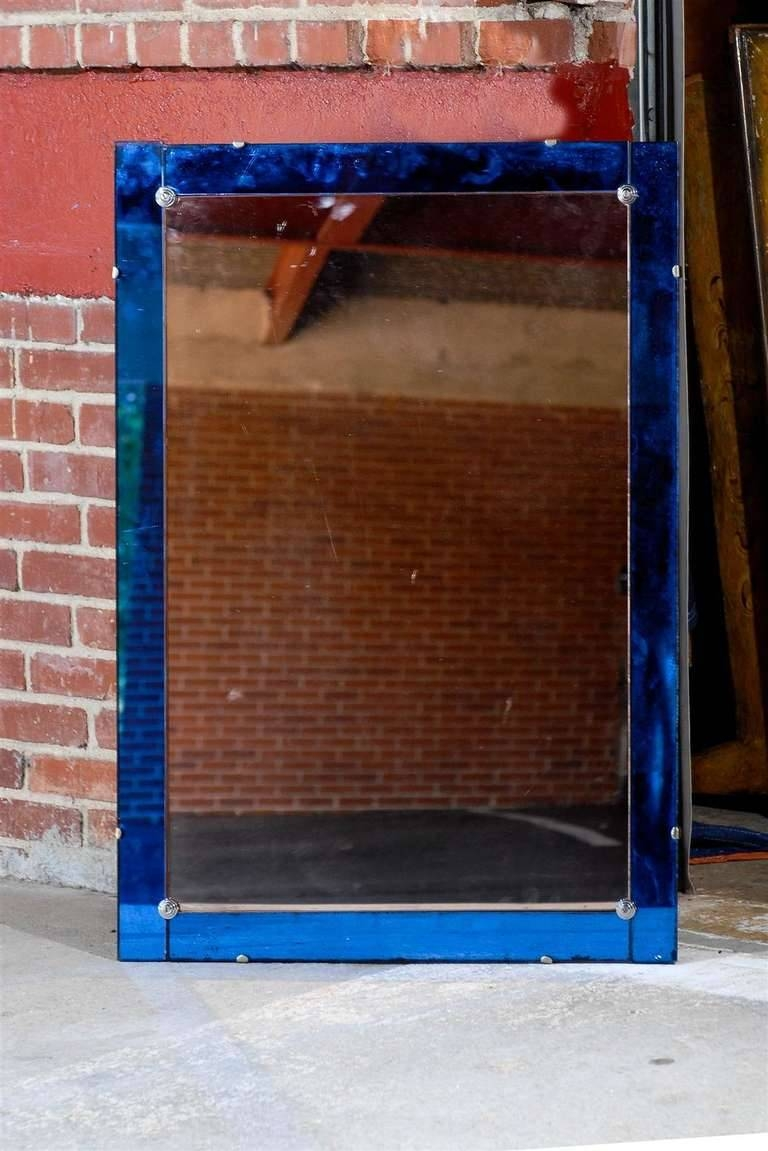 Featured Photo of Mirrors With Blue Frame