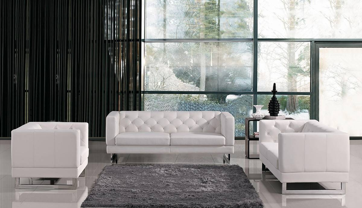 Italian Design Leatherette Sofa Set in Windsor Sofas (Image 4 of 30)