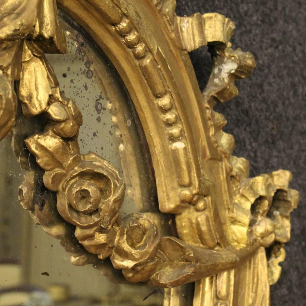 Italian Gilt Mirrors, Set Of 2 For Sale At Pamono inside Gilt Mirrors (Image 9 of 25)