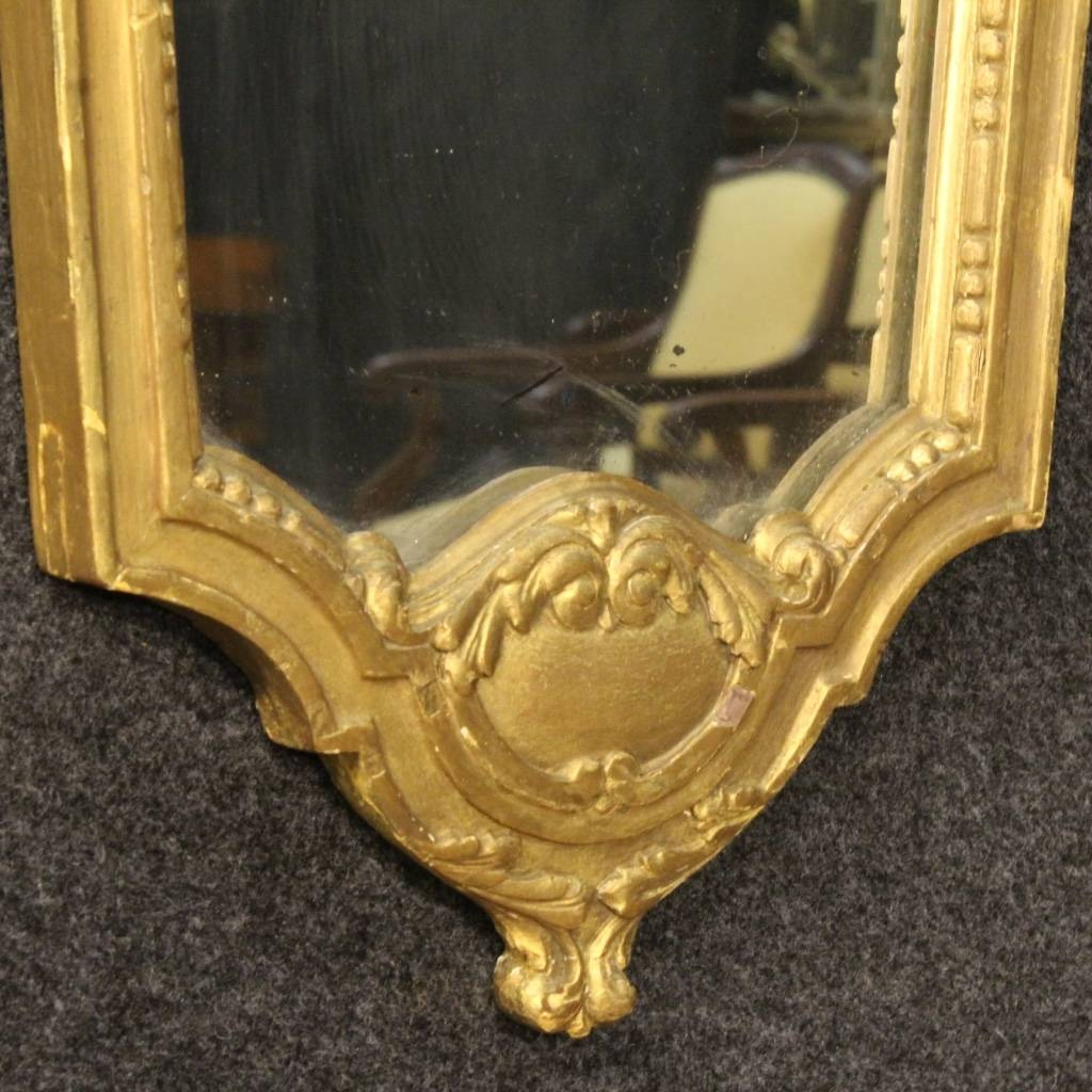 Italian Gilt Mirrors, Set Of 2 For Sale At Pamono pertaining to Gilt Mirrors (Image 11 of 25)