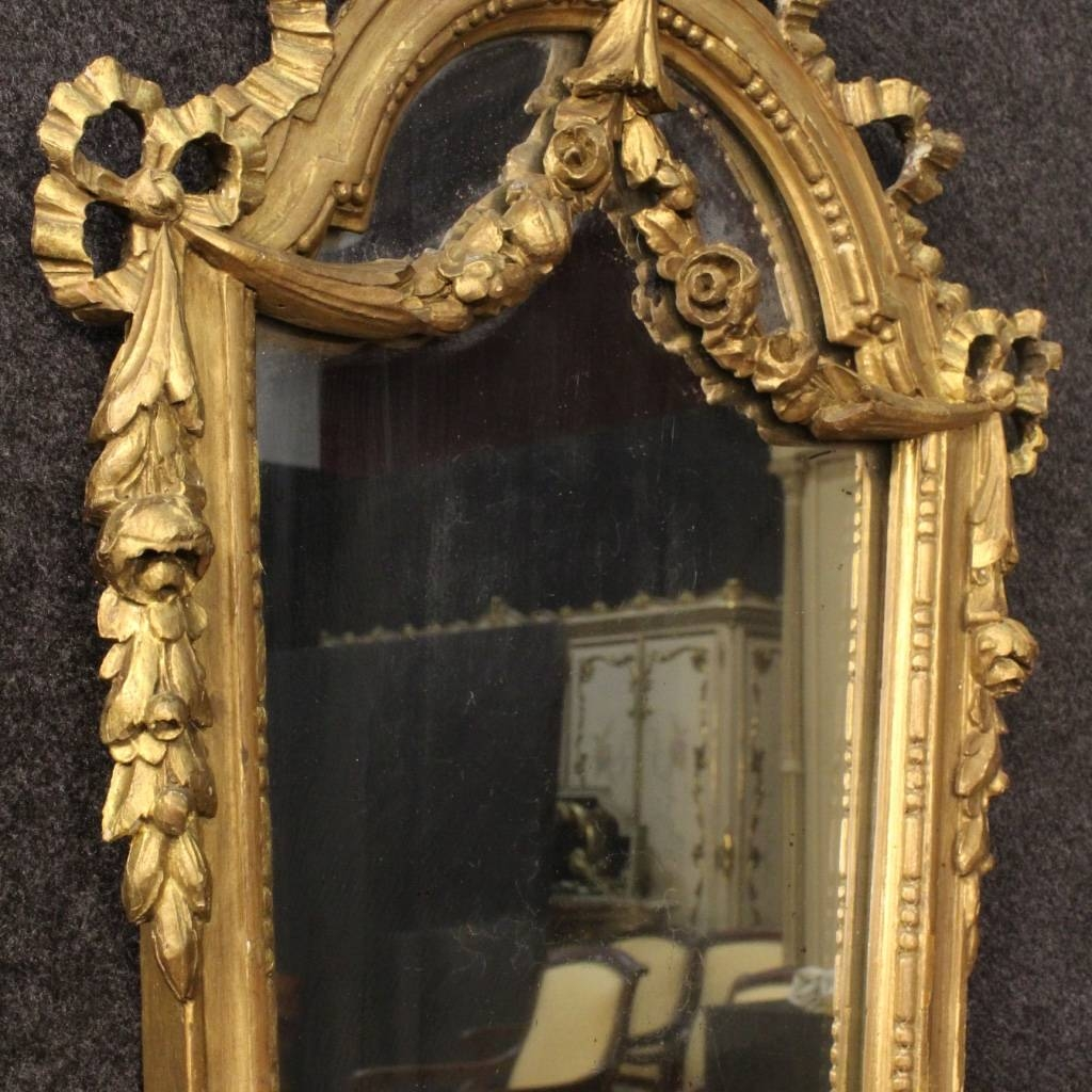 Italian Gilt Mirrors, Set Of 2 For Sale At Pamono with Gilt Mirrors (Image 12 of 25)