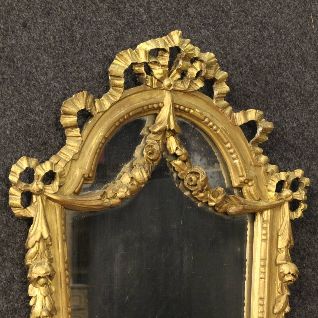 Italian Gilt Mirrors, Set Of 2 For Sale At Pamono within Gilt Mirrors (Image 13 of 25)