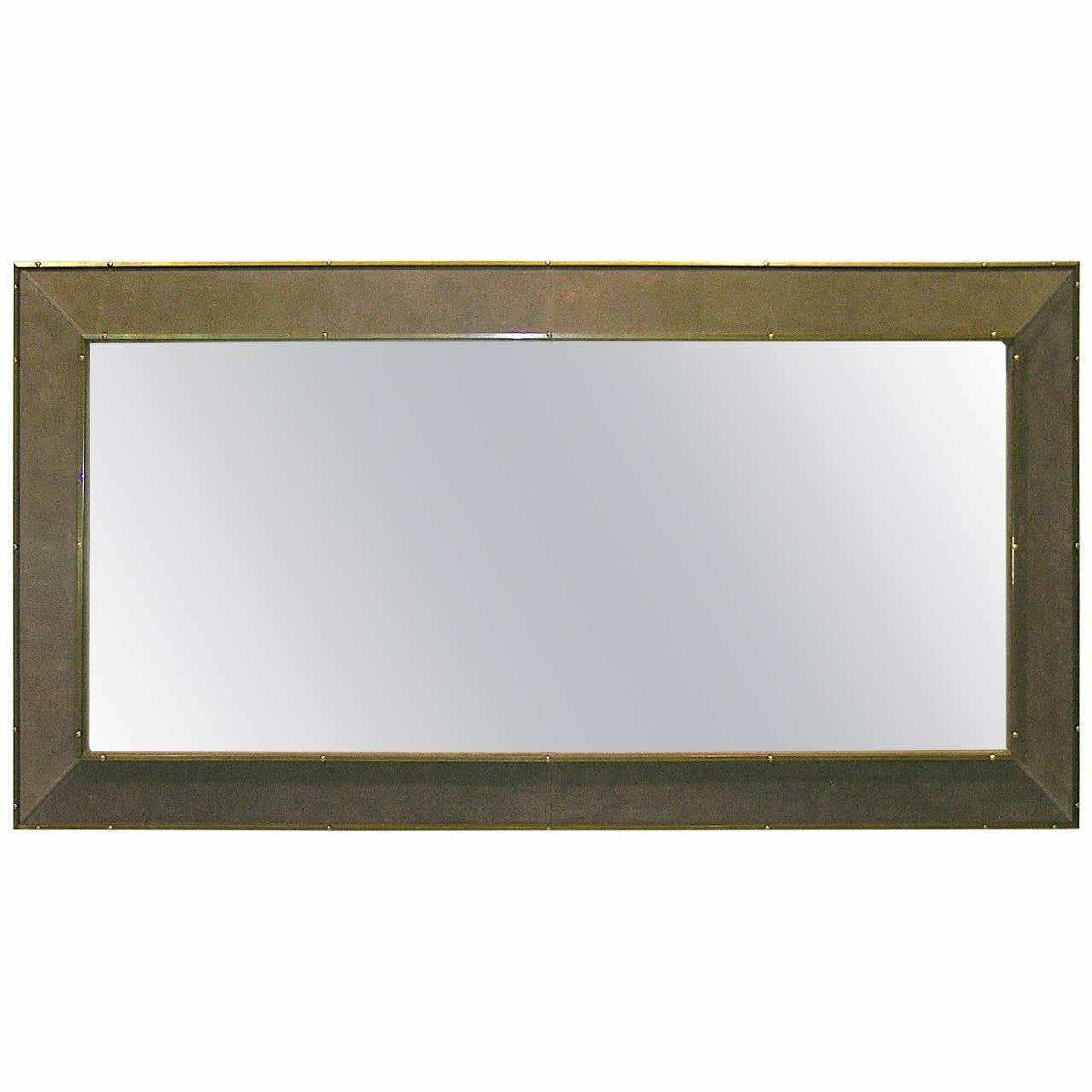 Italian Leather Mirrorsstill Domus For Sale At 1Stdibs Pertaining To Leather Mirrors (View 12 of 25)