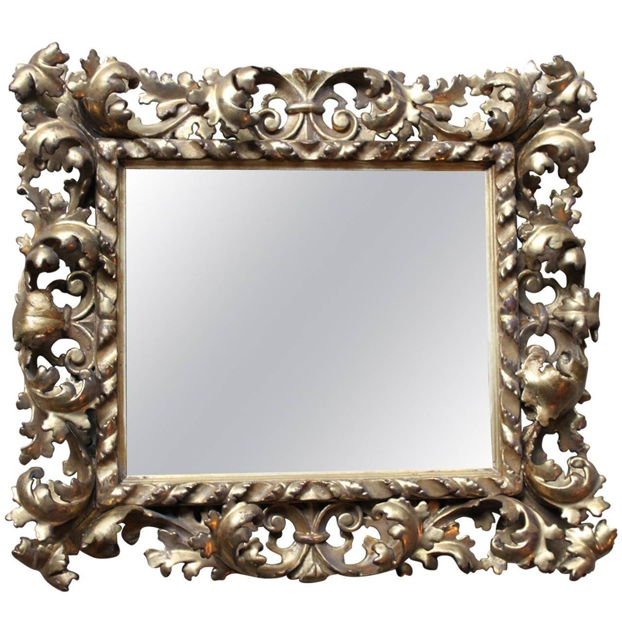 Italian Rococo Mirror Gold Giltwood And Open Scrollwork, 19Th Intended For Gold Rococo Mirrors (View 18 of 25)