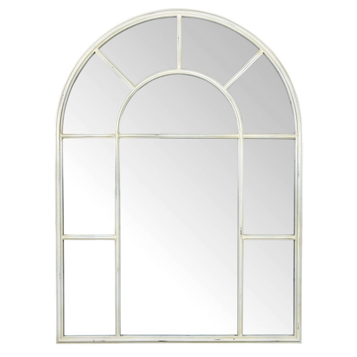 Ivory Arch Mirror for Window Arch Mirrors (Image 13 of 25)