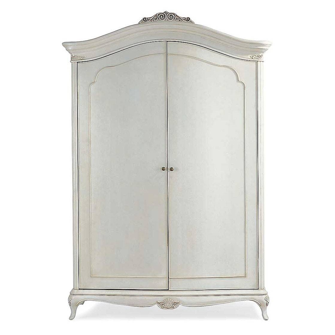 Ivory French Inspired Wide Fitted Wardrobe | French Bedroom within Venetian Glass Wardrobes (Image 3 of 15)