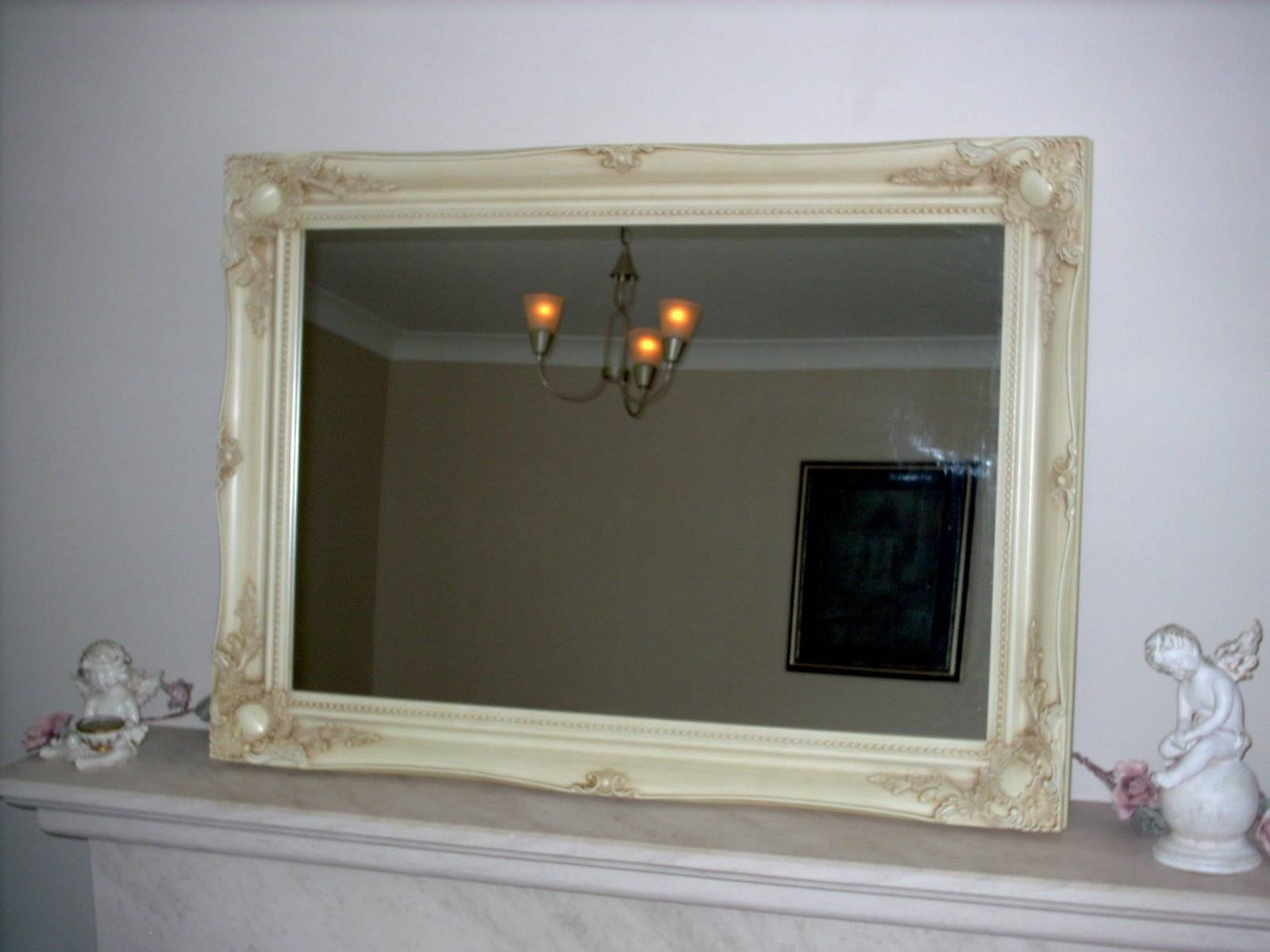 Ivory Ornate Wall Mirror throughout Ivory Ornate Mirrors (Image 11 of 25)