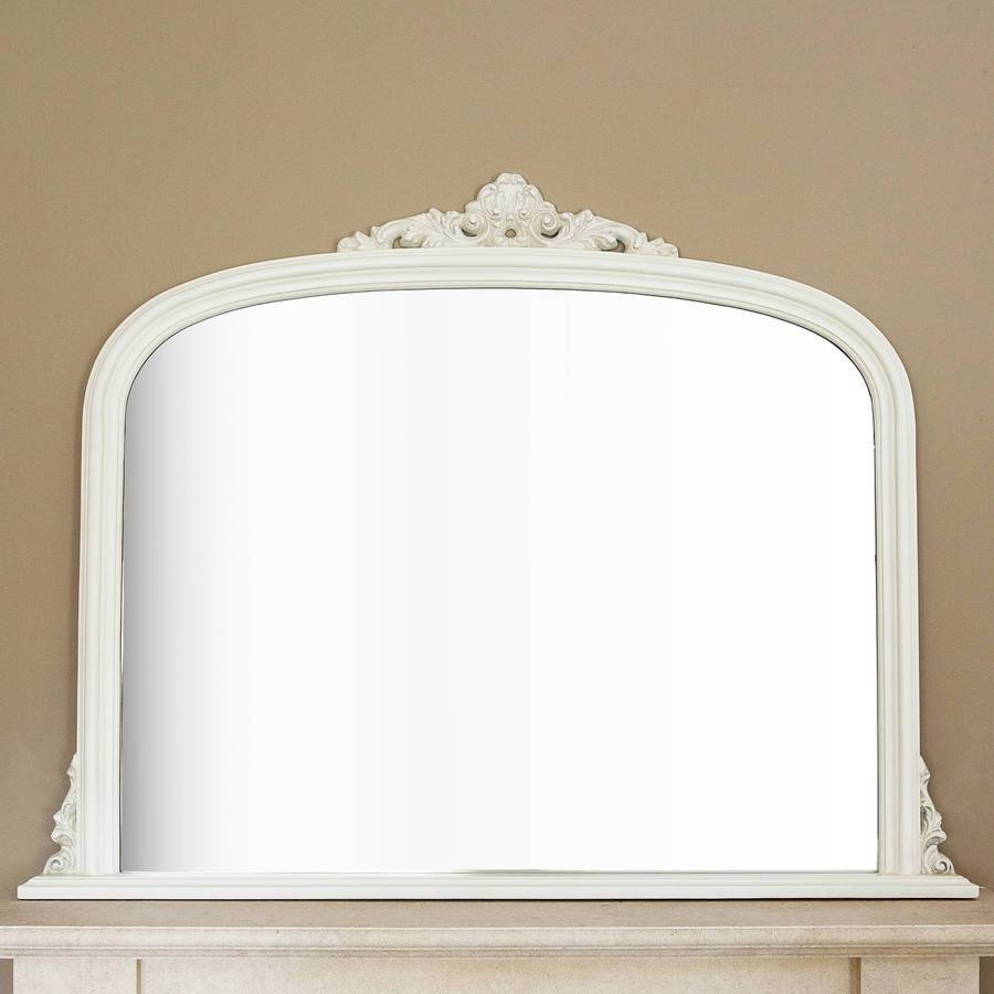 Ivory Overmantel Mirrordecorative Mirrors Online pertaining to Overmantle Mirrors (Image 11 of 25)