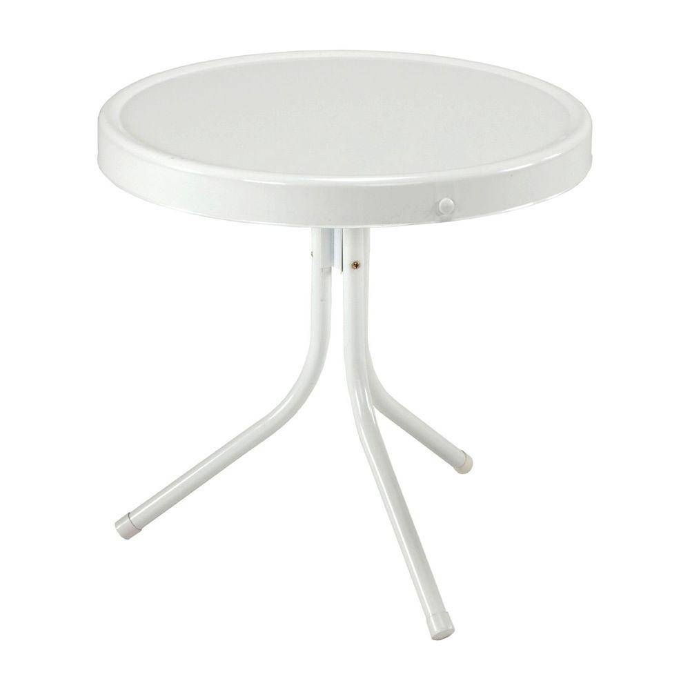 Jack Post Retro 20 In. White Patio Table-Bh-2W - The Home Depot within White Retro Coffee Tables (Image 15 of 30)