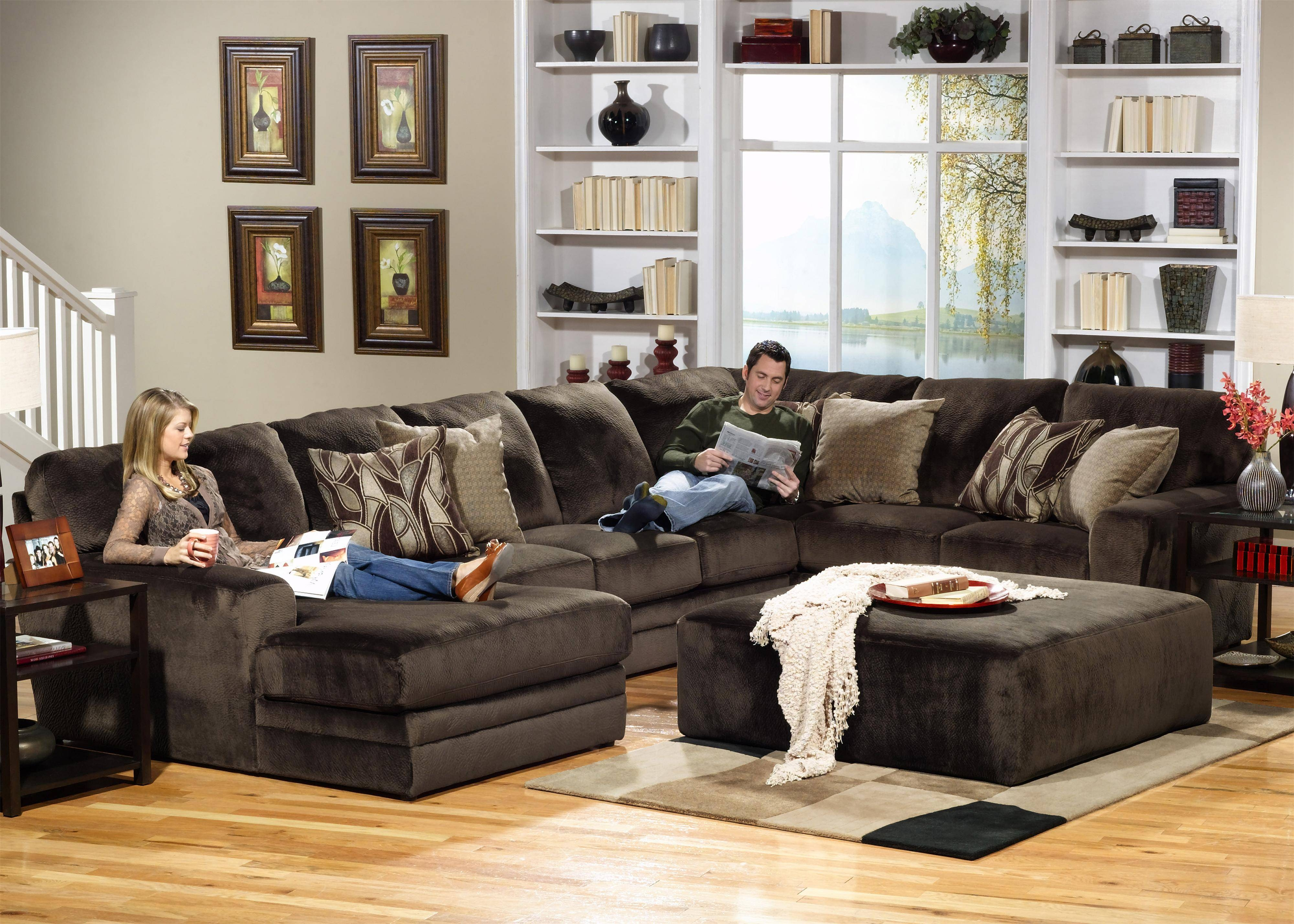 Jackson Furniture 4377 Everest 3 Piece Sectional With Rsf Section inside 10 Piece Sectional Sofa (Image 16 of 30)