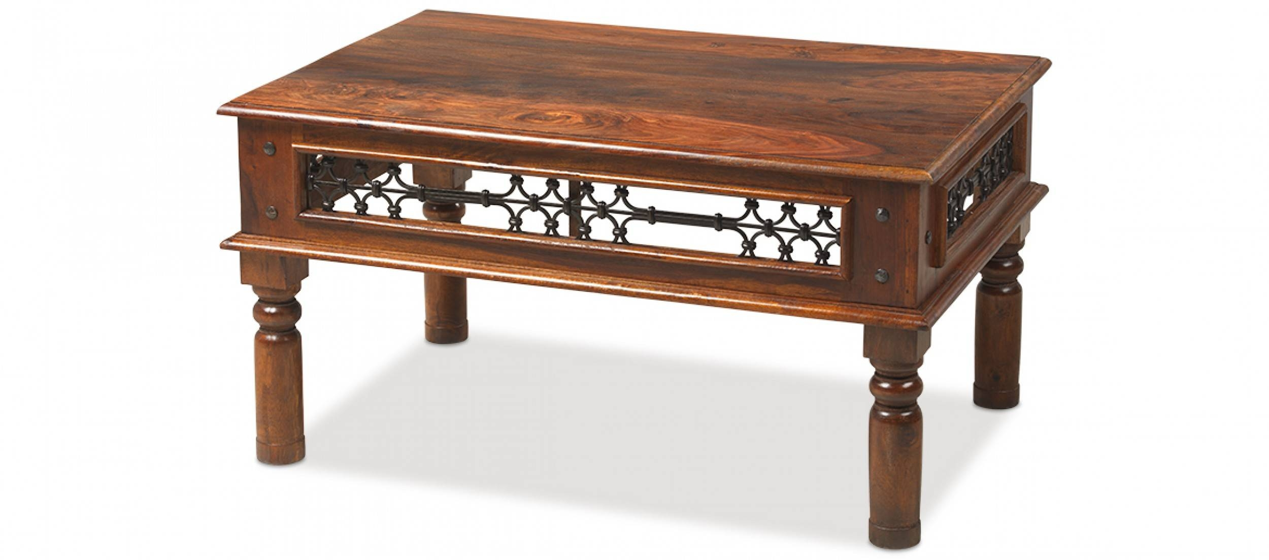 Jali Sheesham 90 Cm Coffee Table | Quercus Living pertaining to Indian Coffee Tables (Image 26 of 30)