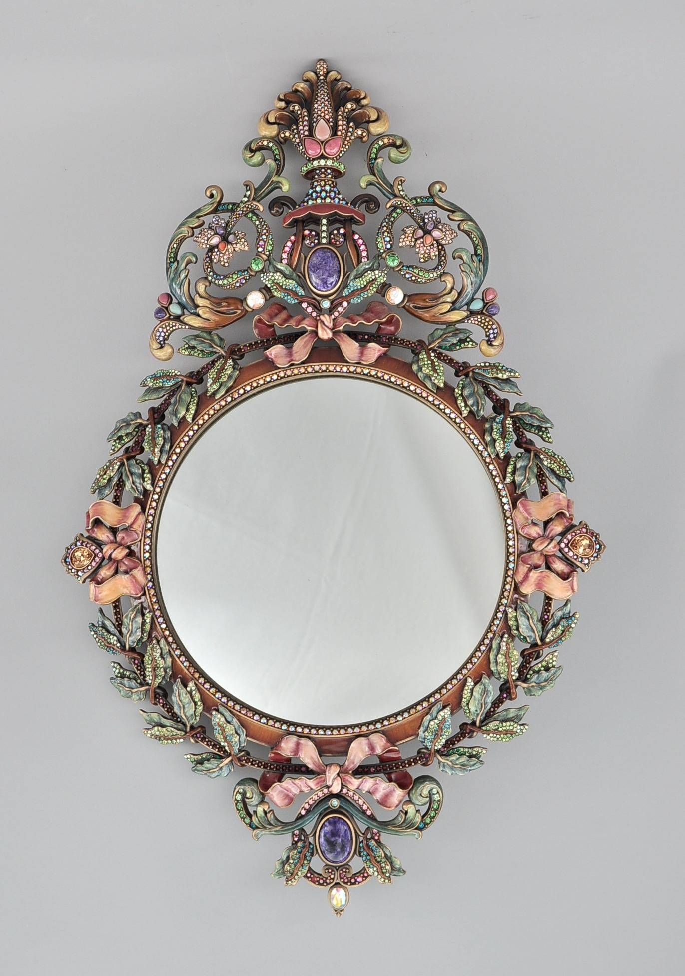 Jay Strongwater French Baroque Style Wall Mirror, 11.21.09, Sold throughout Baroque Style Mirrors (Image 16 of 25)