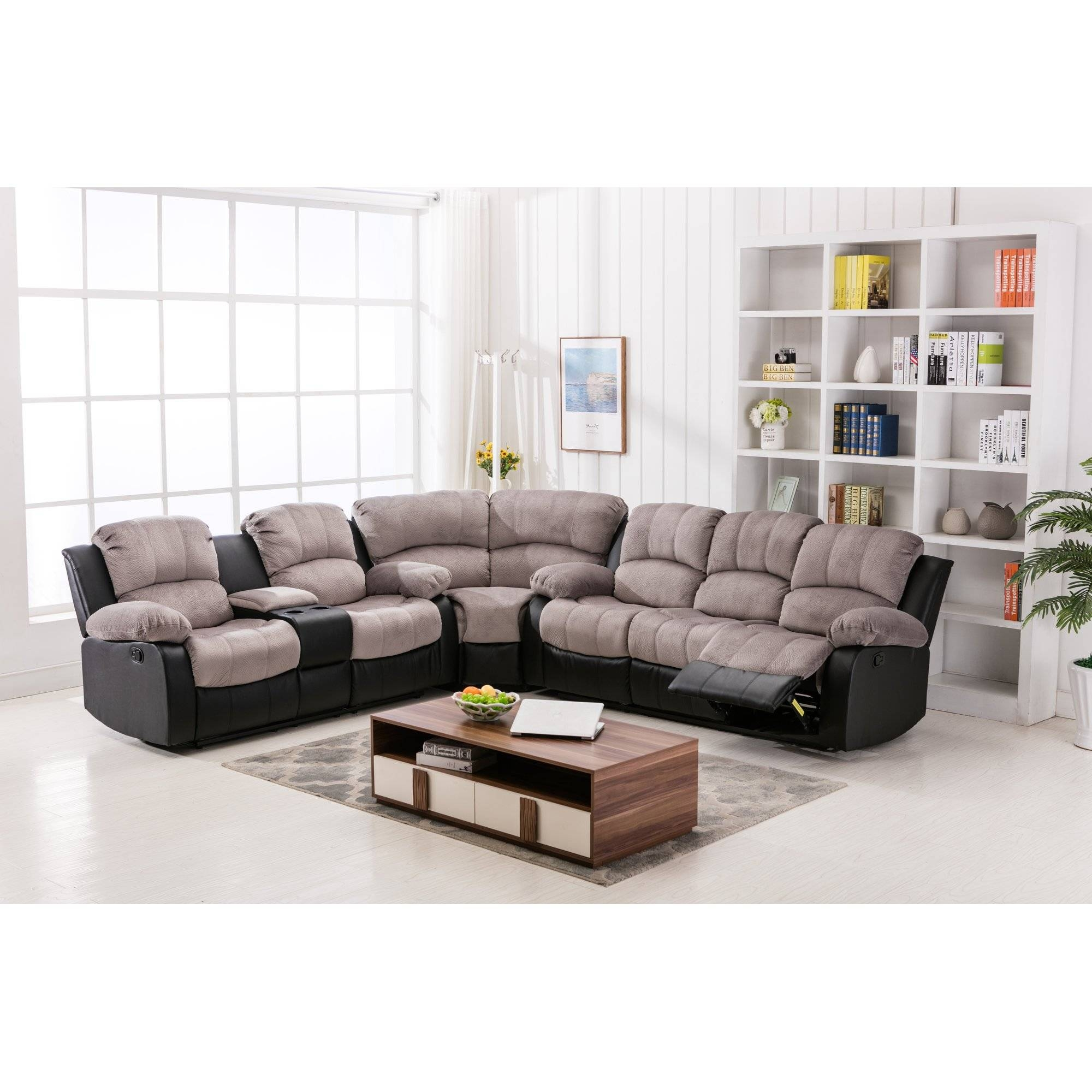 Jedd Fabric Reclining Sectional Sofa ~ Instasofa regarding Jedd Fabric Reclining Sectional Sofa (Image 22 of 30)