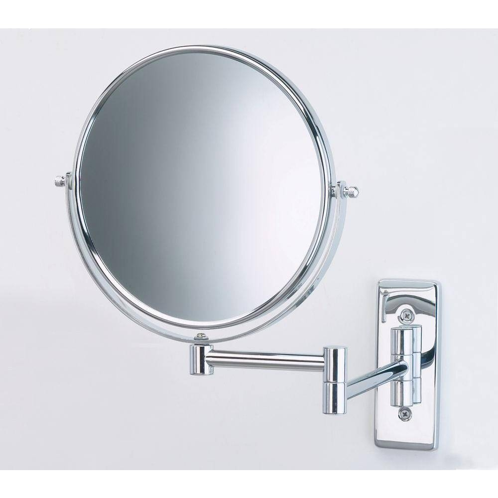 Jerdon 8 In. Dia Wall Mount Mirror In Chrome-Jp7506Cf - The Home Depot with regard to Chrome Mirrors (Image 17 of 25)