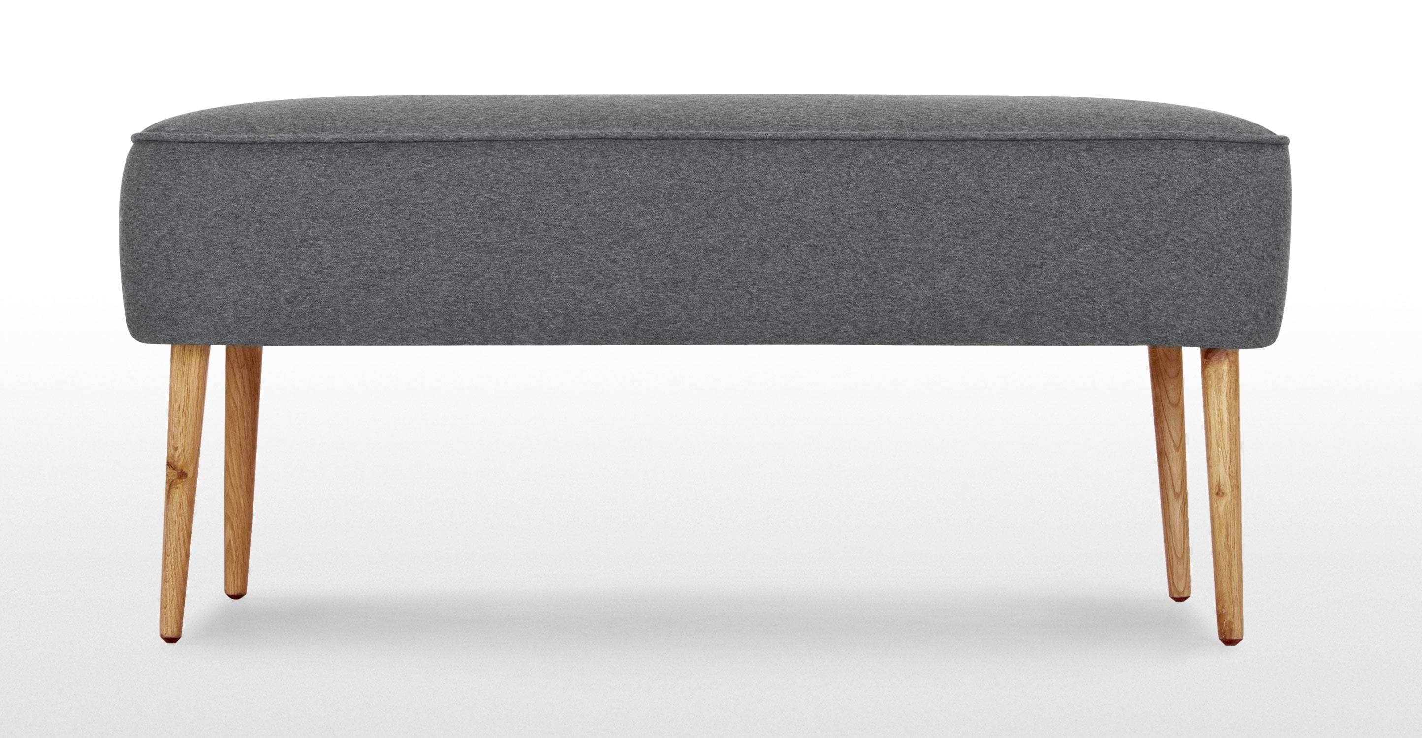 Jersey Large Footstool In Trilby Grey | Made with Large Footstools (Image 25 of 30)