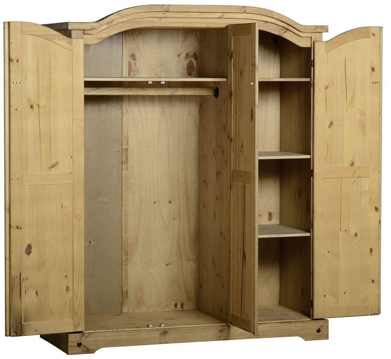 Jim's Carpets And Furniture Warehouse. Corona 3 Door Wardrobe with Corona 3 Door Wardrobes (Image 14 of 15)