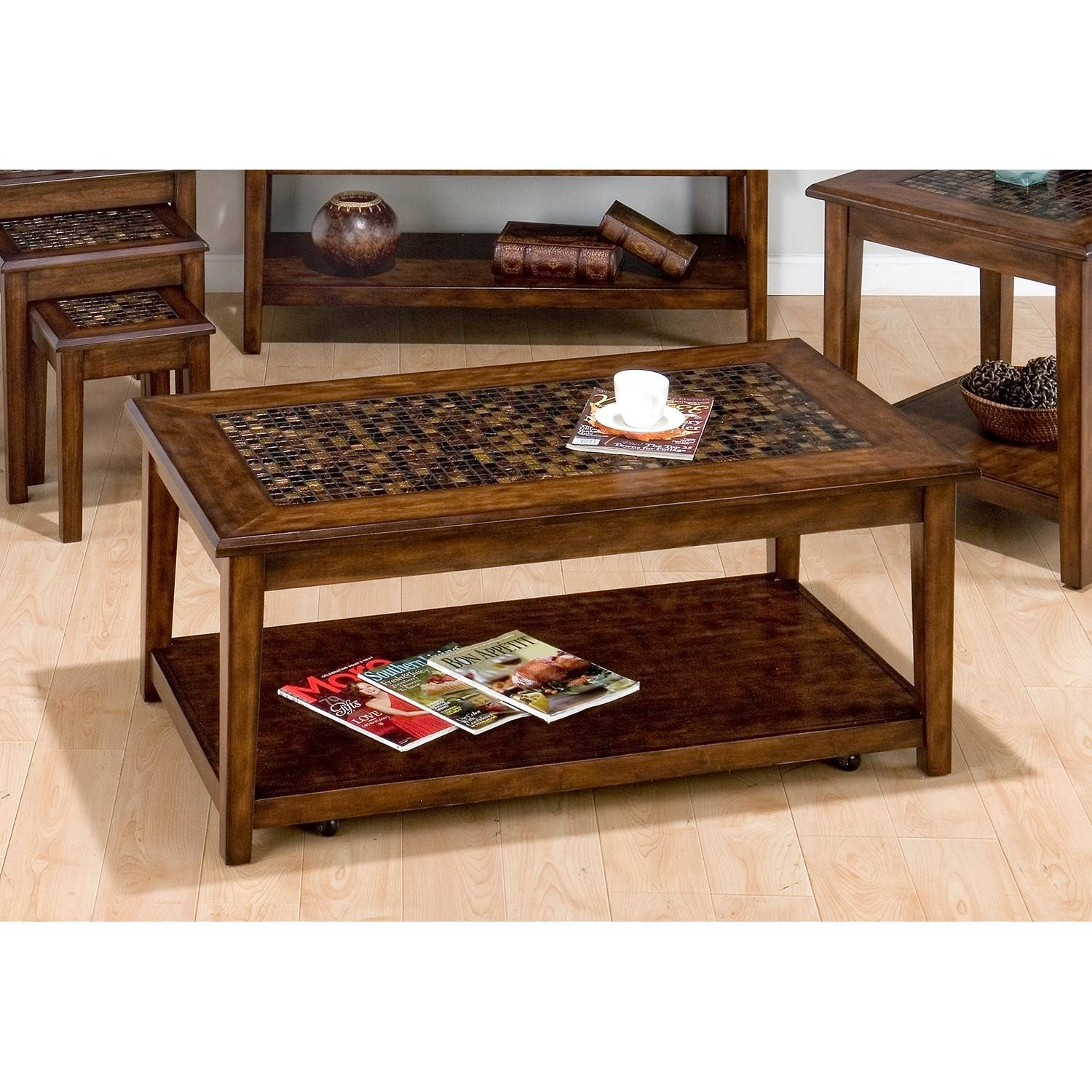Jofran Baroque Mosaic Tile Top Coffee Table – 698 1 | The Simple Inside Baroque Coffee Tables (View 5 of 11)