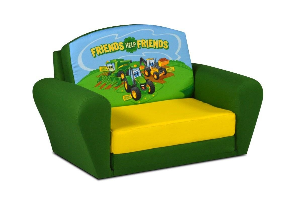John Deere Johnny Tractor Sweet Dreamer Kids Sofa & Reviews | Wayfair pertaining to Kids Sofa Chair And Ottoman Set Zebra (Image 15 of 30)
