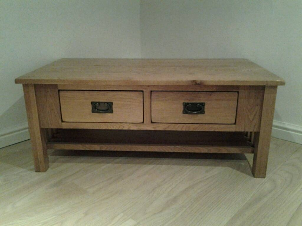 John Lewis Solid Chunky Oak Coffee Table / Storage Trunk With 4 in Chunky Oak Coffee Tables (Image 22 of 30)