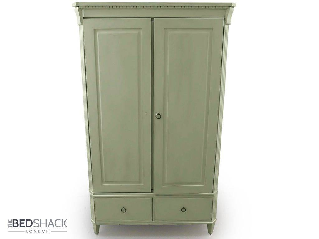 John Lewis White Shabby Chic Wooden Wardrobe Armoire 2 Doors 2 with Shabby Chic Wardrobes (Image 7 of 15)