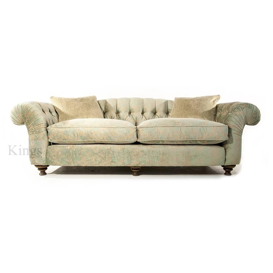 John Sankey Bloomsbury Grand Sofa In Florence Velvet Haze for Florence Grand Sofas (Image 20 of 25)
