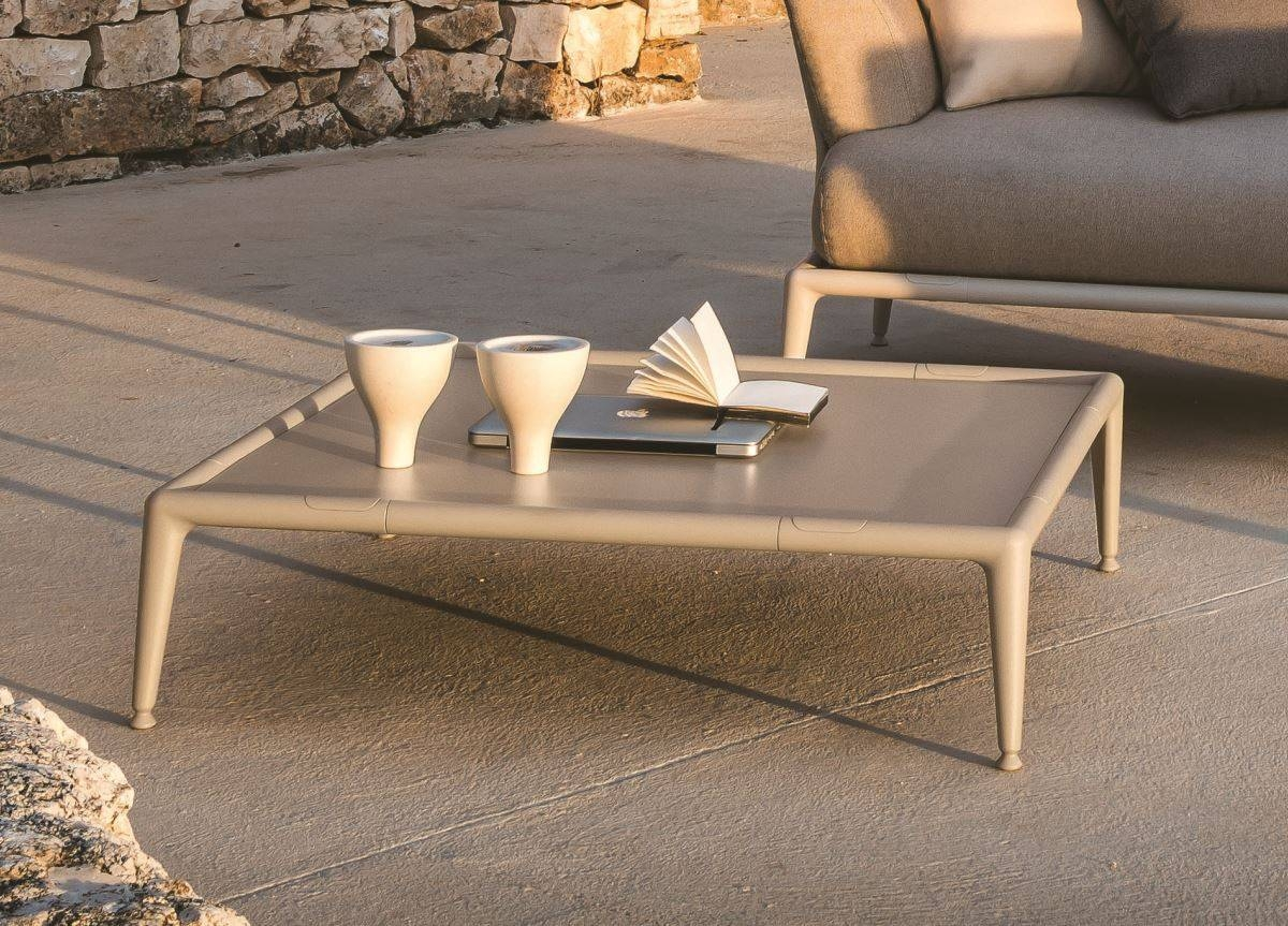 Joint Contemporary Garden Coffee Table/footrest | Modern Garden for Coffee Table Footrests (Image 19 of 30)