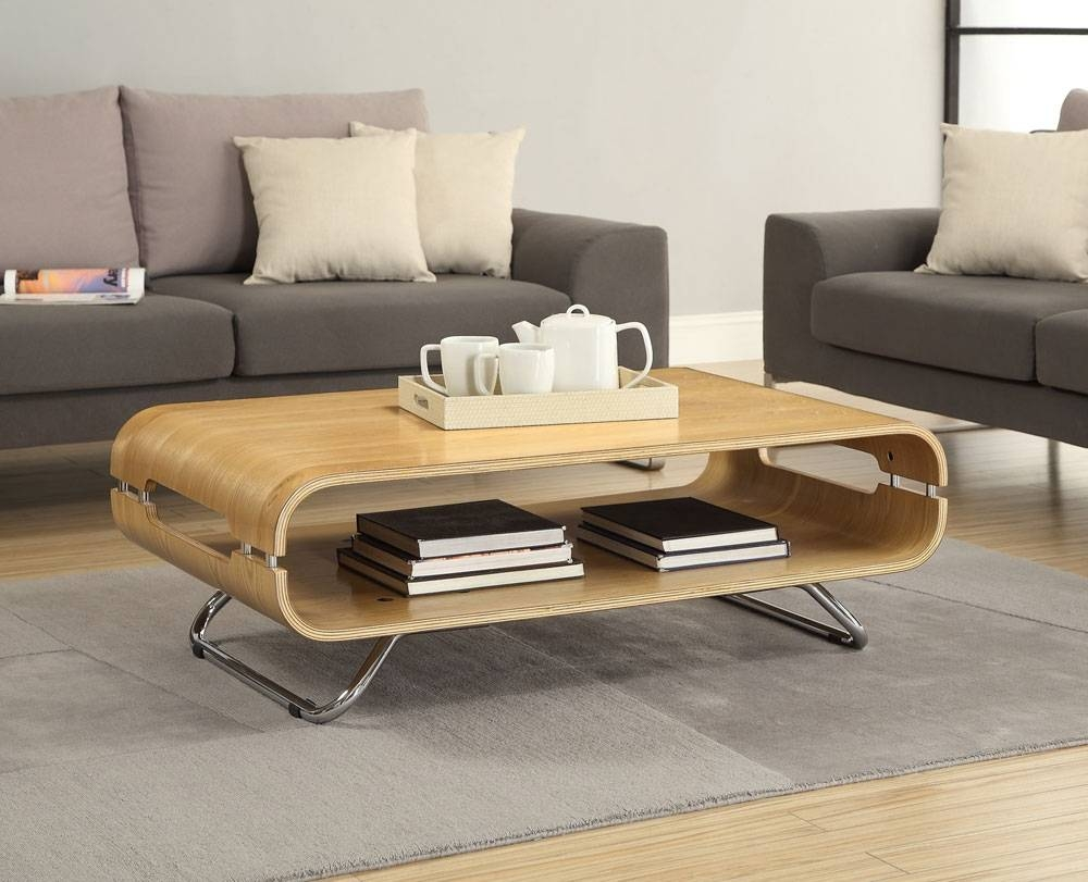 Jual Curve Oak Coffee Table Jf302 | Oak Furniture Solutions Inside Curve Coffee Tables (View 20 of 30)
