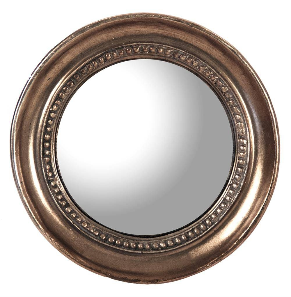 Julian Antique Bronze Distressed Small Round Convex Mirror | Kathy intended for Small Round Convex Mirrors (Image 12 of 25)