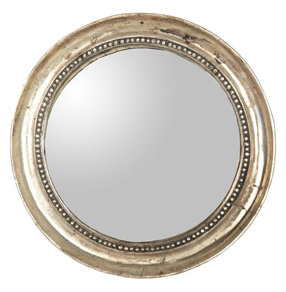 Julian Antique Gold Champagne Small Round Convex Mirror | Kathy with Small Round Convex Mirrors (Image 14 of 25)