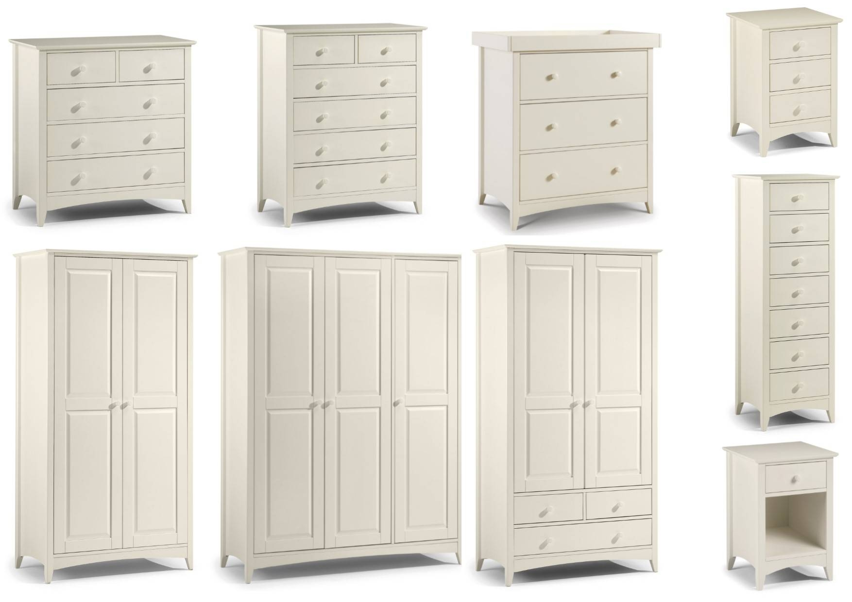 Julian Bowen Cameo Stone White Bedroom Range - Bedside Drawers pertaining to Julian Bowen Cameo Wardrobes (Image 6 of 15)