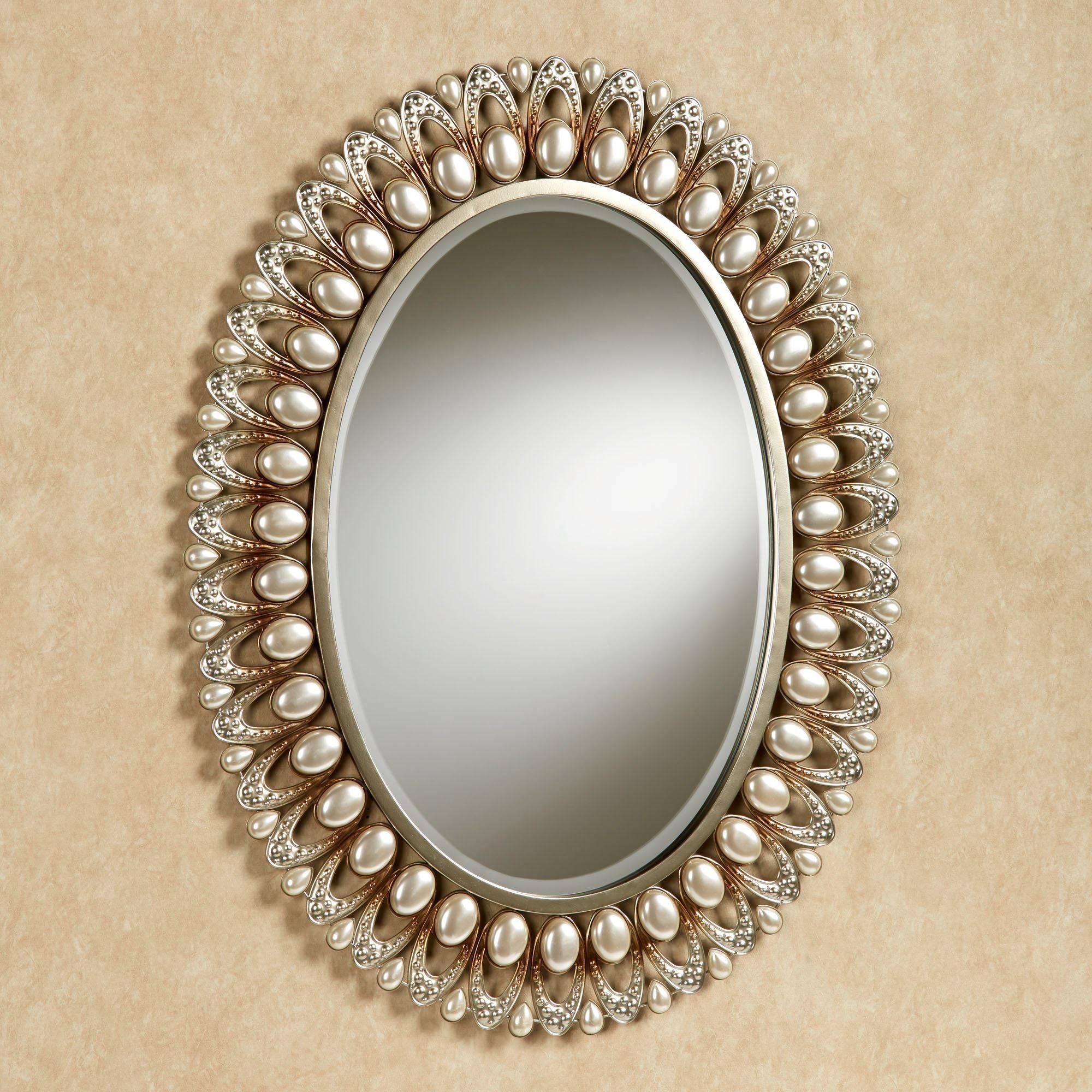 Julietta Pearl Oval Wall Mirror Inside Oval Wall Mirrors (View 15 of 25)