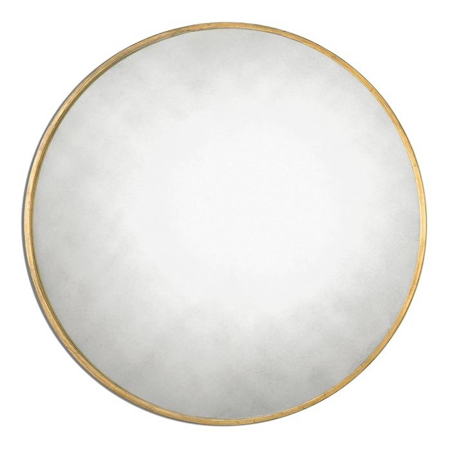 Junius Round Gold Round Mirror Uttermost Wall Mirror Mirrors Home in Large Circular Mirrors (Image 10 of 25)