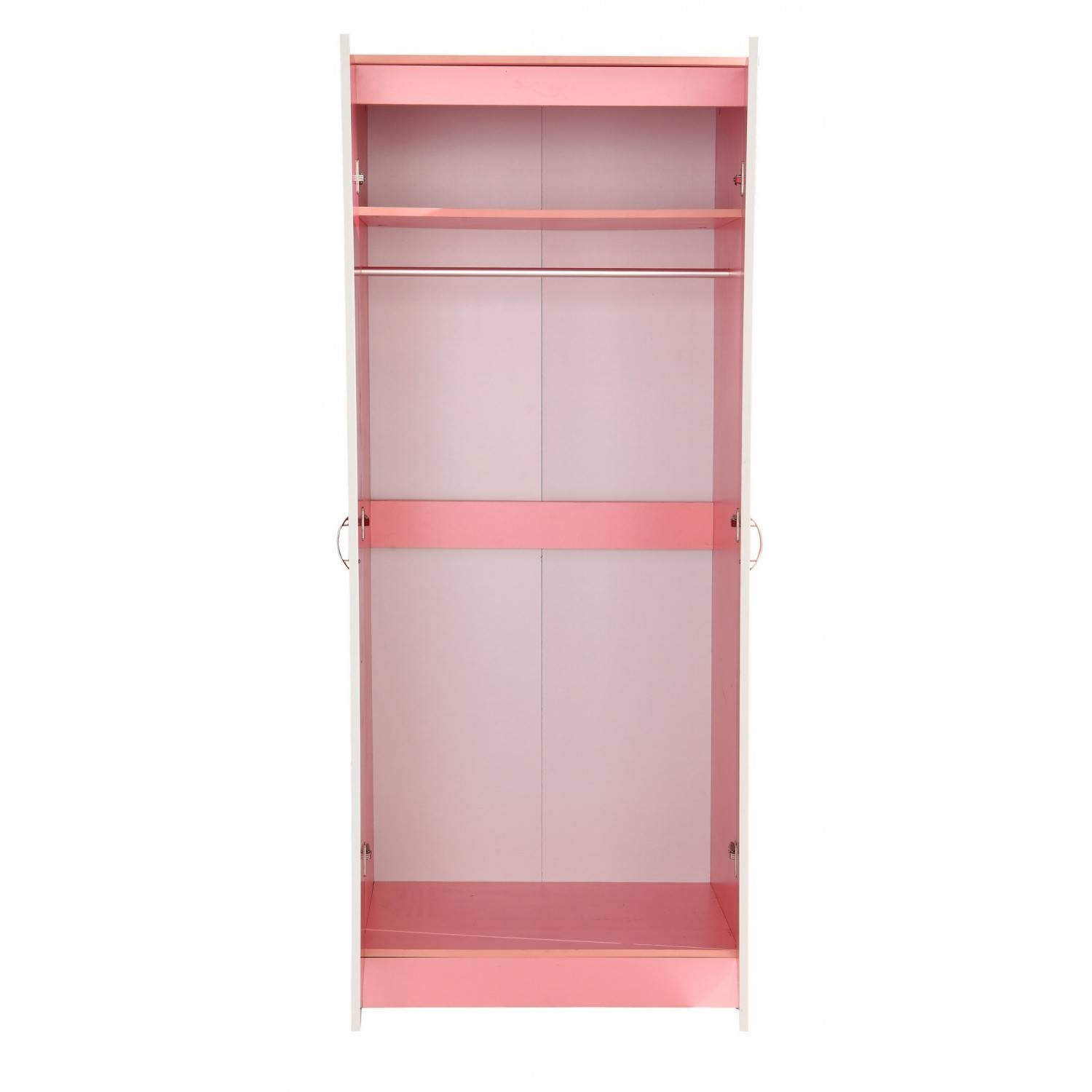 Kale High Gloss Two Door Wardrobe In Pink On Pink intended for Pink High Gloss Wardrobes (Image 6 of 15)