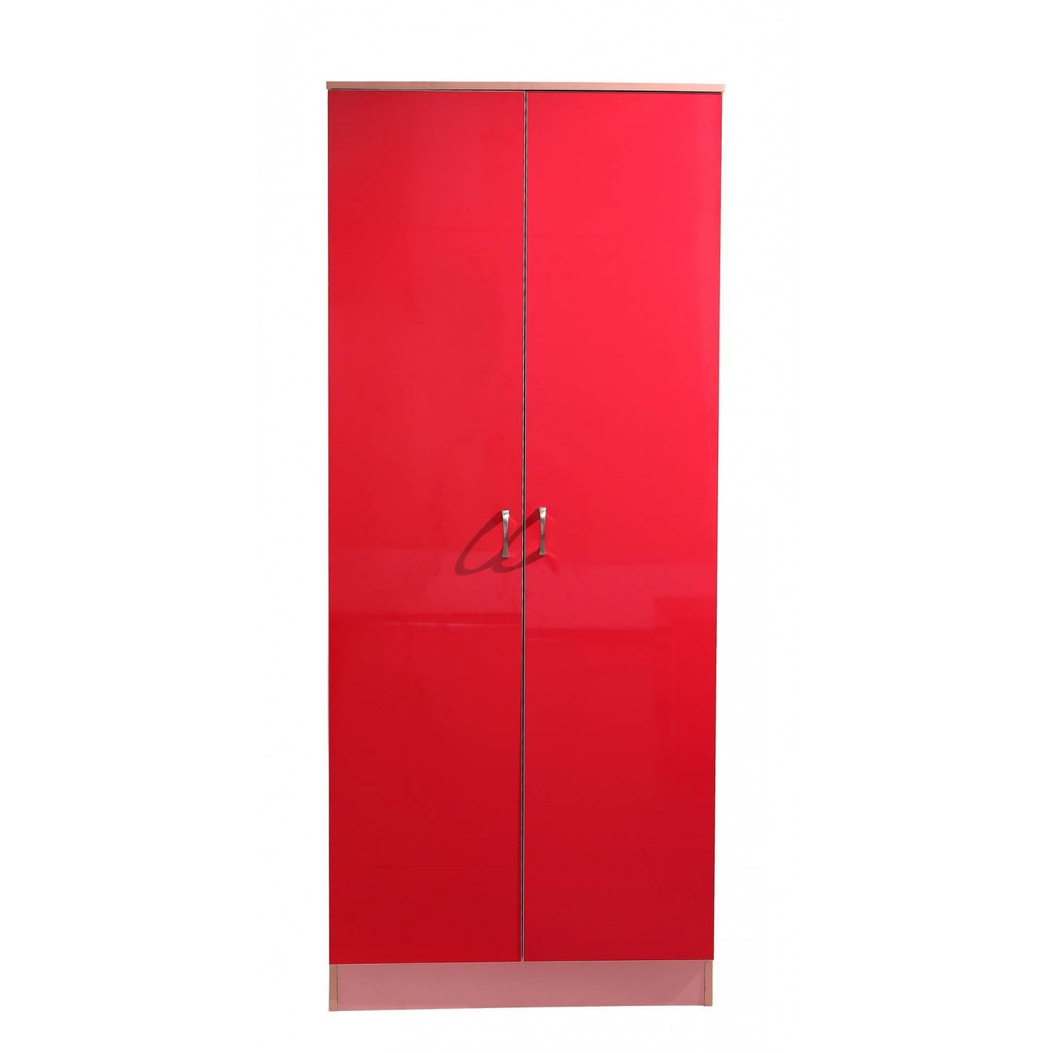 Kale High Gloss Two Door Wardrobe In Pink On Pink pertaining to Pink High Gloss Wardrobes (Image 7 of 15)