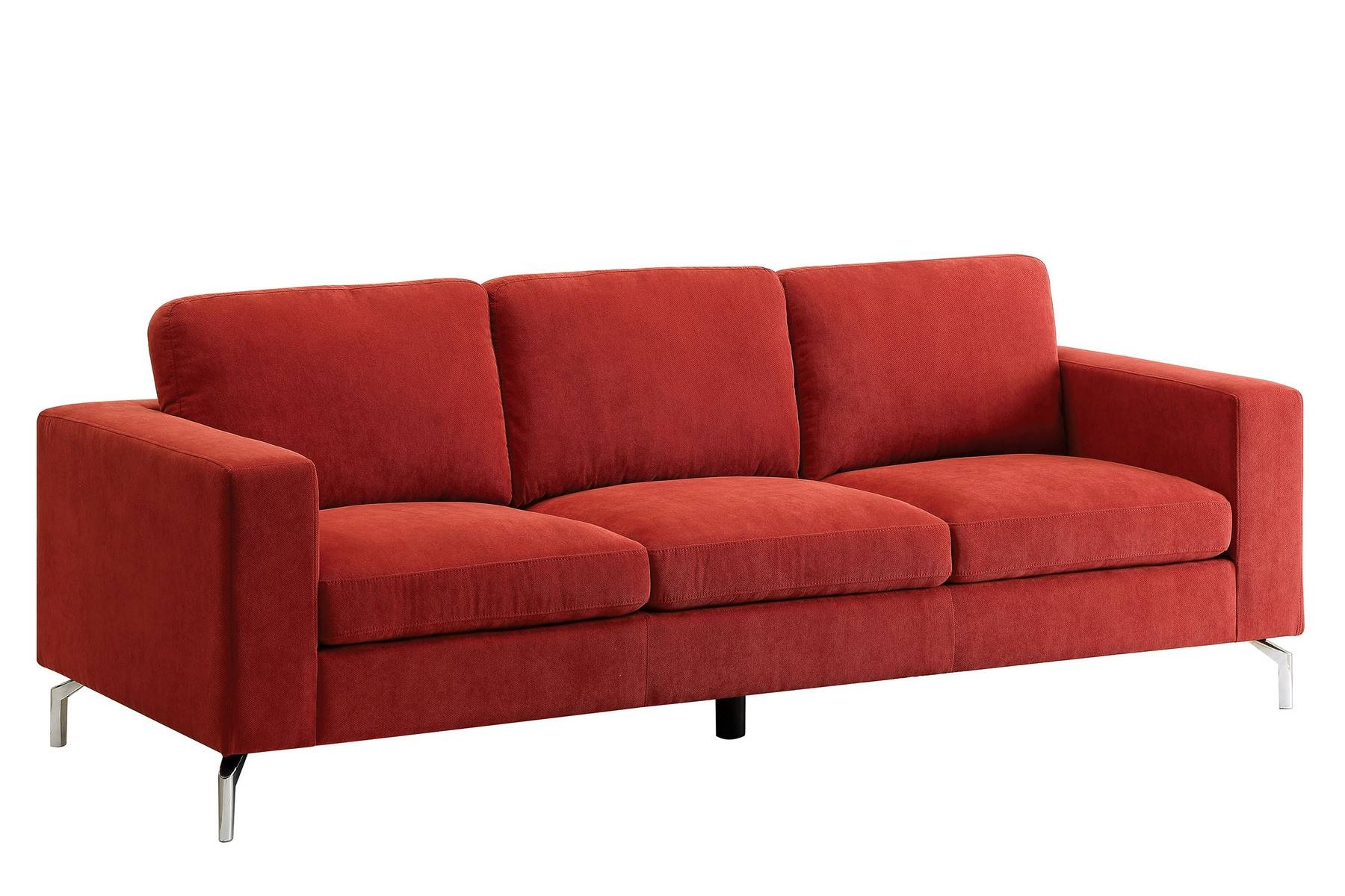 Kallie Sofa Cm6848-Sf Furniture Of America Fabric Sofas At Comfyco in Fabric Sofas (Image 21 of 30)