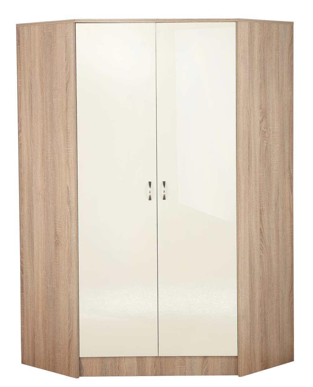 Kanya 2 Door Corner Wardrobe – Sen Furniture For 2 Door Corner Wardrobes (View 4 of 15)