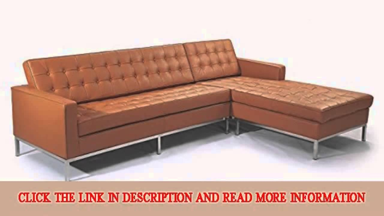 Kardiel Florence Knoll Style Sofa Sectional Right Luxe Camel regarding Florence Knoll Leather Sofas (Image 16 of 25)