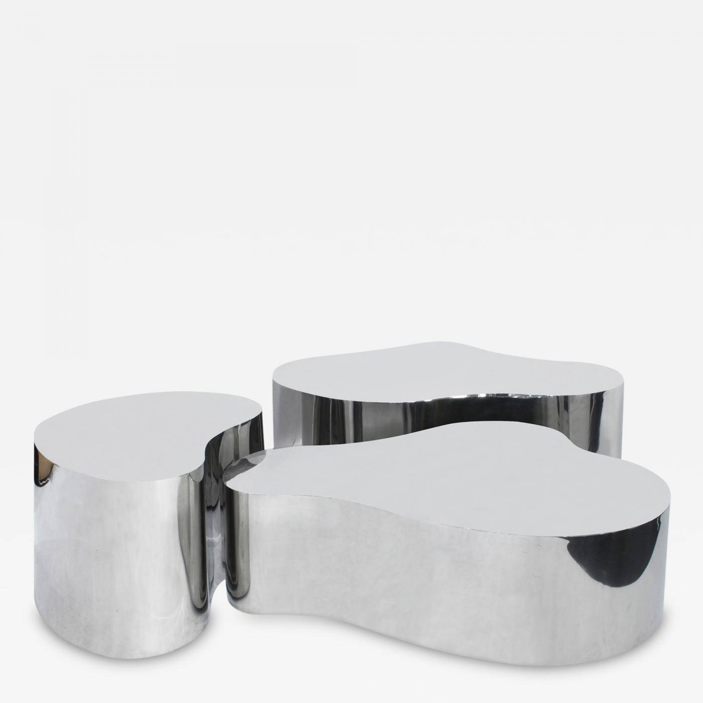 Karl Springer - Rare Complete Set Of Free Form Coffee Tables pertaining to Free Form Coffee Tables (Image 14 of 30)