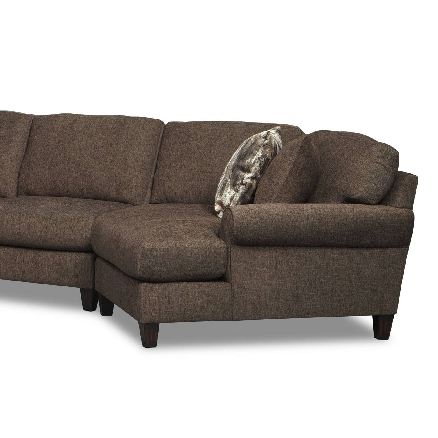 Karma 3-Piece Sectional With Left-Facing Chaise And Right-Facing within Sectional Sofa With Cuddler Chaise (Image 8 of 25)