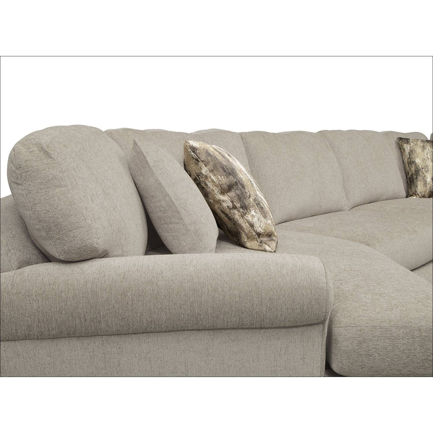 Karma 3-Piece Sectional With Left-Facing Cuddler - Mink | Value within Cuddler Sectional Sofa (Image 15 of 30)
