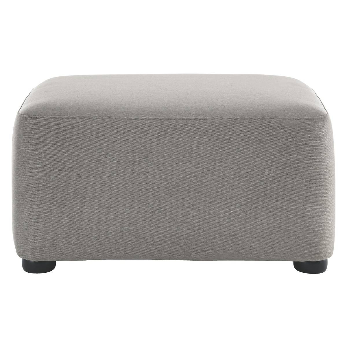 Kasha Grey Fabric Footstool | Buy Now At Habitat Uk for Fabric Footstools (Image 20 of 30)
