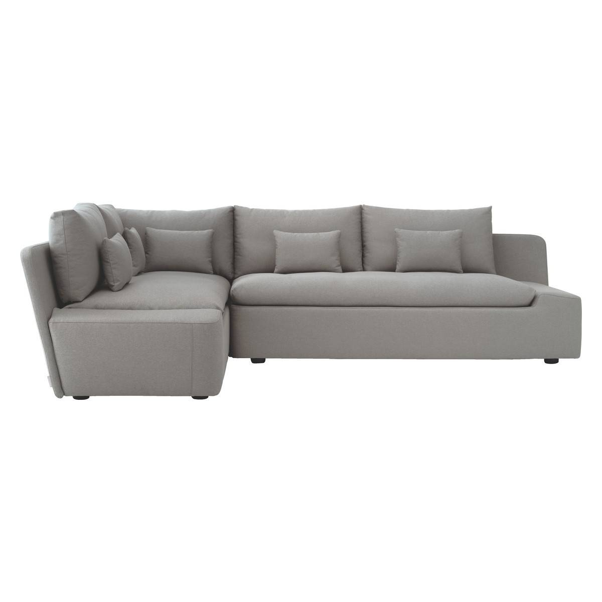 Kasha Light Grey Textured Fabric Right-Arm Corner Sofa | Buy Now regarding 2X2 Corner Sofas (Image 17 of 30)