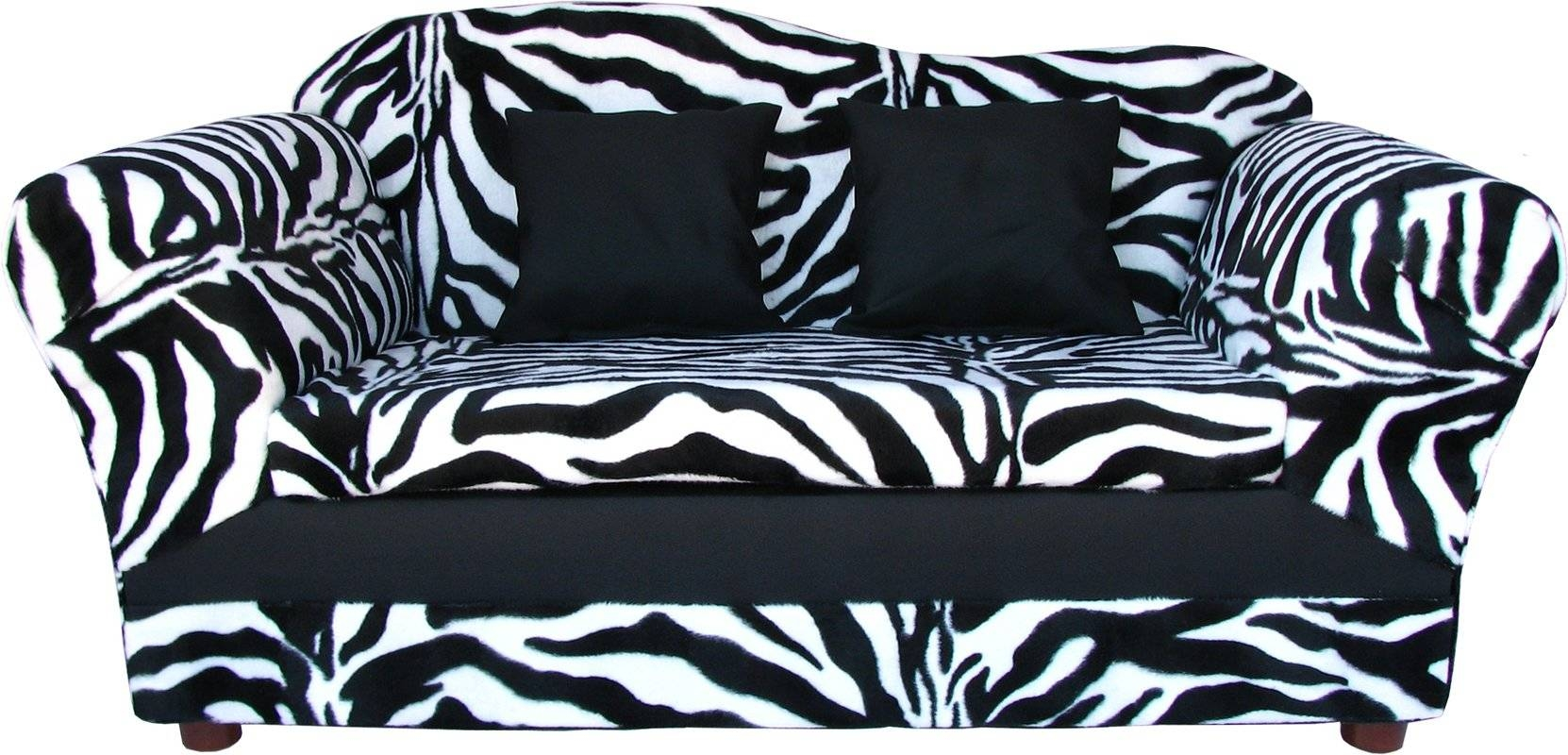 Featured Photo of Kids Sofa Chair And Ottoman Set Zebra