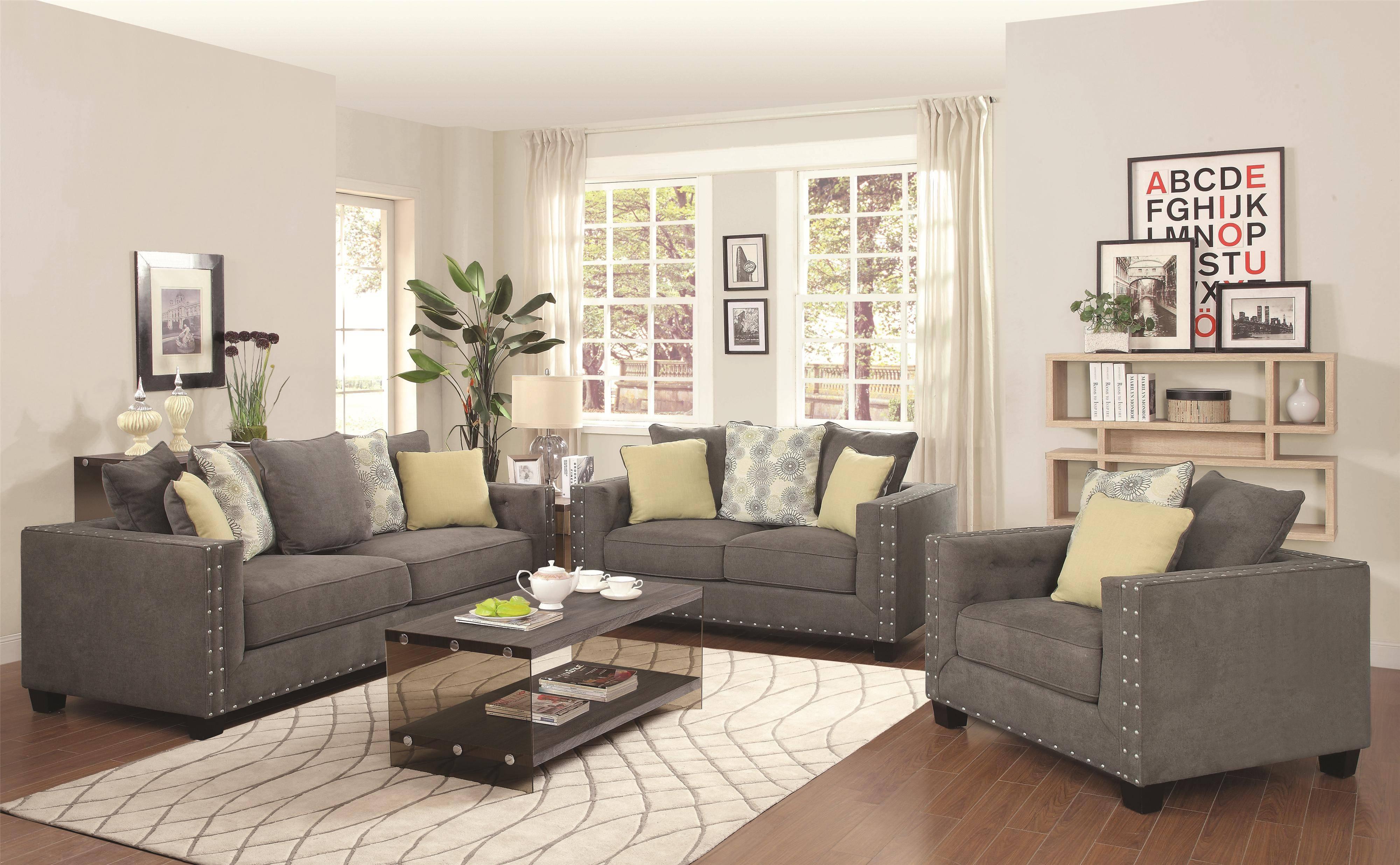 Kelvington Tuxedo Sofa, Loveseat And Chair Set | Furnish Your Needs within Sofa Loveseat and Chair Set (Image 16 of 30)